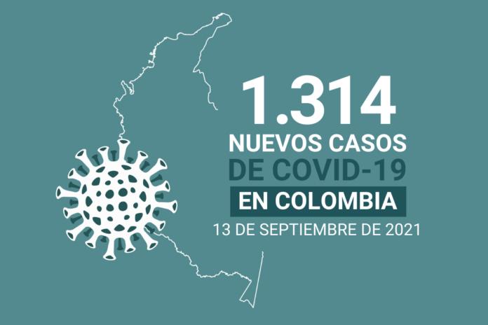 40 nuevas muertes por COVID19 en Colombia el 13 de septiembre, la cifra más baja en 2021