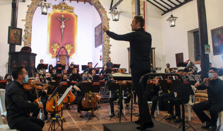 Concierto en la Parroquia San José de El Retiro, en el marco del Iberacademy Festival de Música de Cámara. Orquesta Iberacademy. Director y solista Roberto González-Monjas