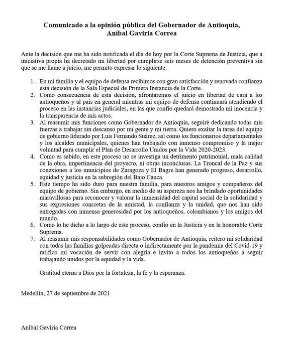 El menaje completo de Aníbal Gaviria Correa en el siguiente link