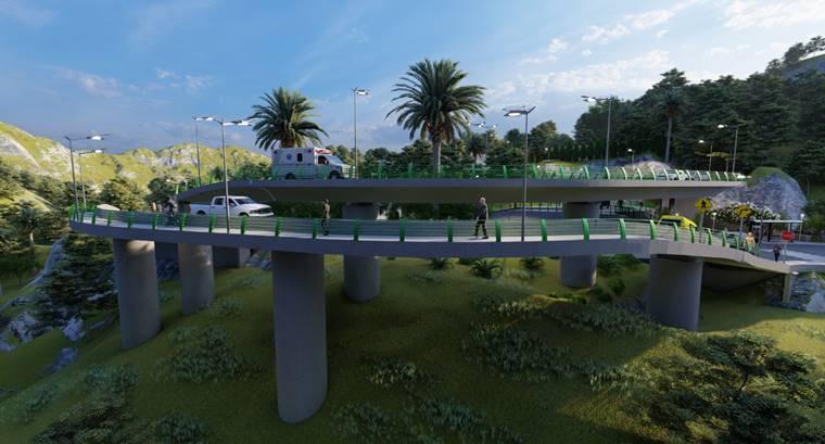 Proyecciones de cómo se verá. Del Megaplan Vial de Envigado (2014) sólo faltaría la ampliación de la avenida Las Vegas.
