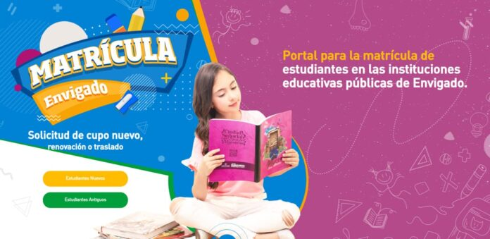 Estudiantes de instituciones públicas de Envigado se pueden matricular en línea