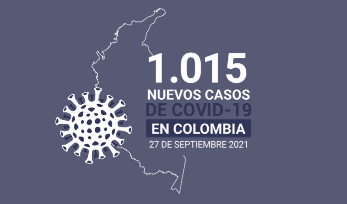 Casos de COVID19 en Colombia al 27 de septiembre