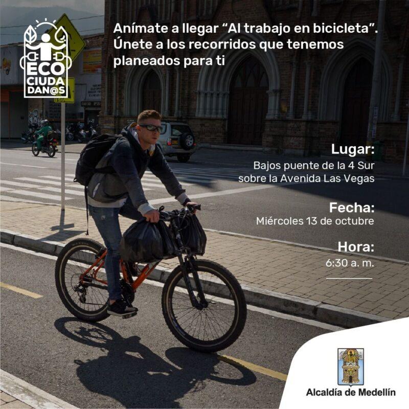El Poblado partirá el recorrido de Al trabajo en bicicleta