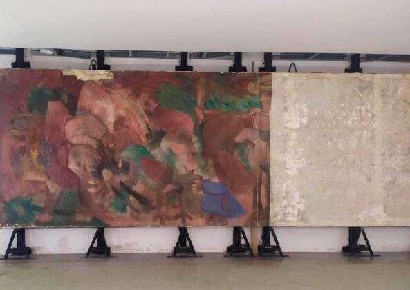 El mural de Botero se alista para recibir al público