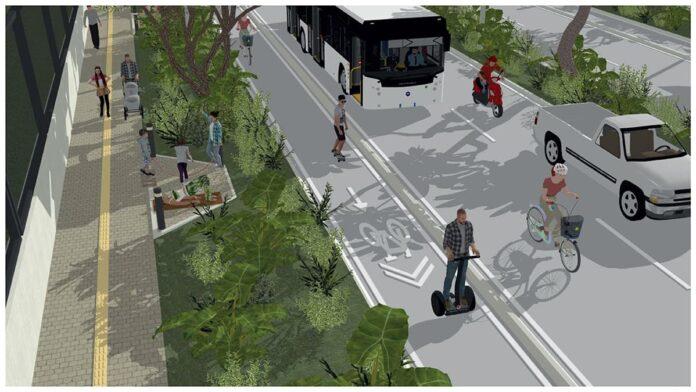 La ciclorruta de la avenida Las Vegas seguirá al hacia Envigado