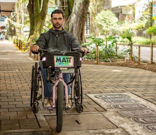 Martín Londoño es el alma de los matt, un dispositivo para las personas discapacitadas