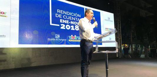 Alcalde de Envigado en la rendición de cuentas 2018