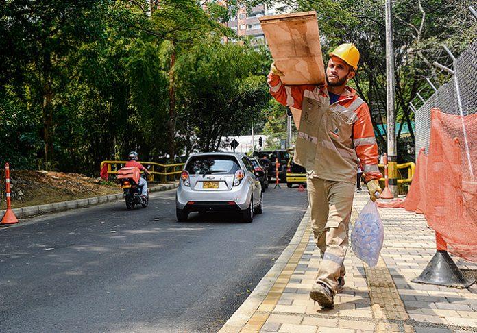 Obras avenida 34 en El Poblado