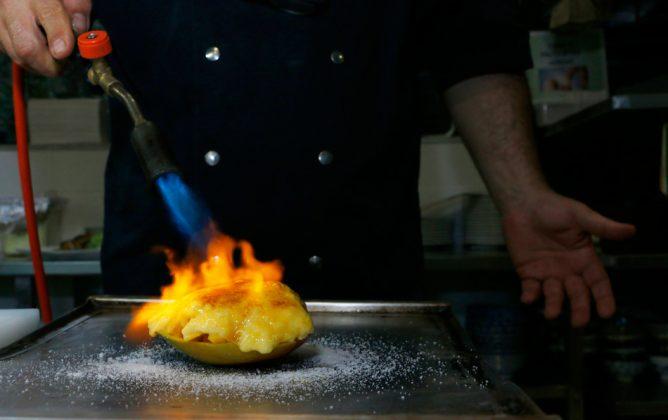Créme brûlée de mango
