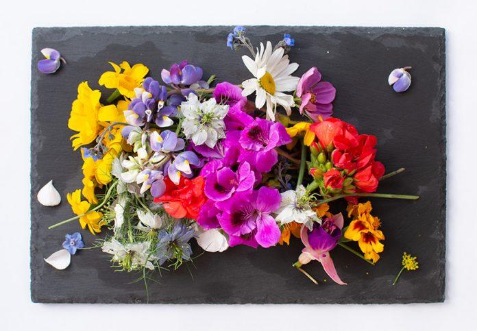 Flores comestibles el Jardín en la mesa