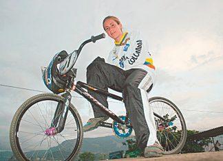 Mariana Pajón tenía 14 años y ya había sido campeona mundial en ocho ocasiones.