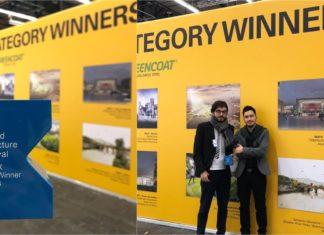 Sebastián Monsalve y Juan David Hoyos, arquitectos diseñadores de Parques del Río (Foto Twitter Amigos de Parques del Río)