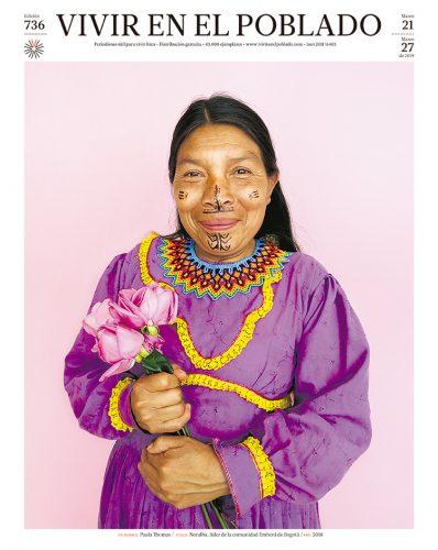 Noralba, líder de la comunidad Emberá de Bogotá