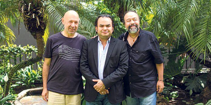 Nelson Gómez, Alexis Cárdenas y Francisco González