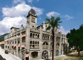 edificio Gonzalo Mejía, en el que además de otros locales comerciales, estaban el Teatro Junín y el Hotel Europa